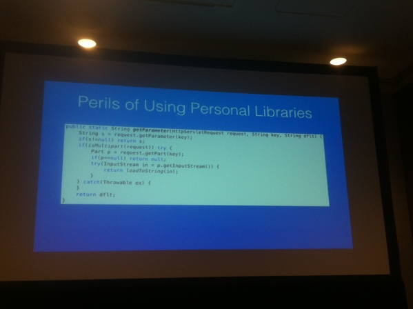 Code example from one of James Goslings Libraries