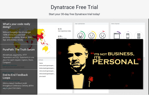 "It is my personal mission to bring you Dynatrace Personal License. After 30 days it becomes ""personal""."