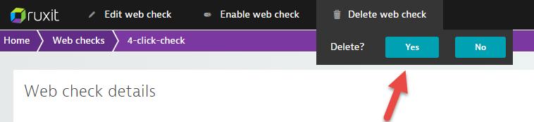 Delete web check2