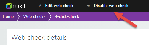 Disable web check