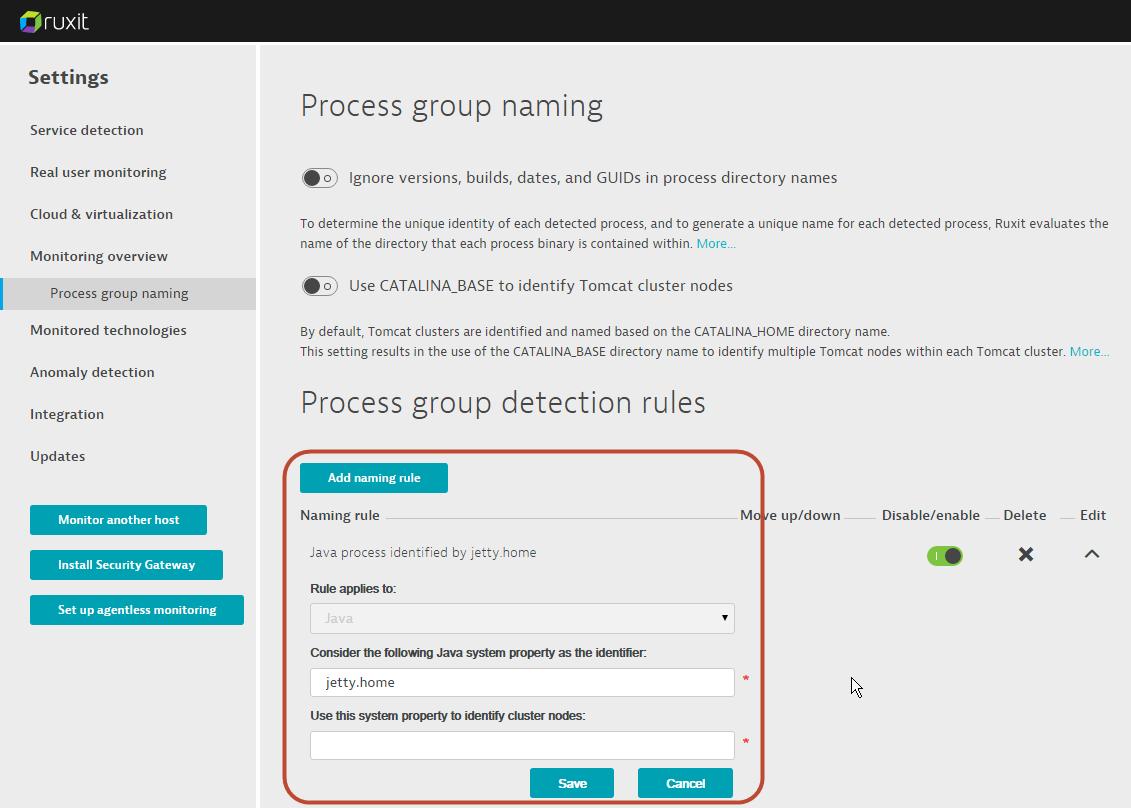 Customizing Dynatrace process detection | Dynatrace blog