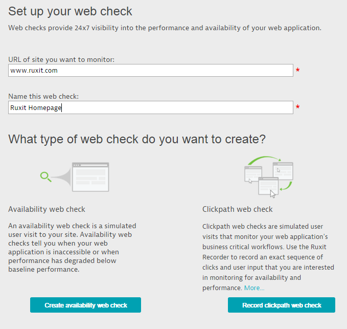 Web-check creation