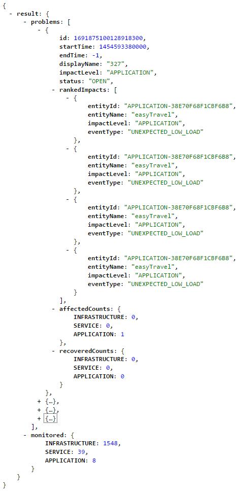 Dynatrace AI API