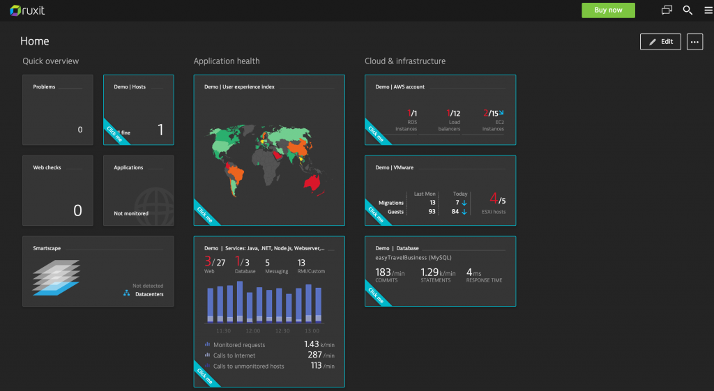 homepage dashboard