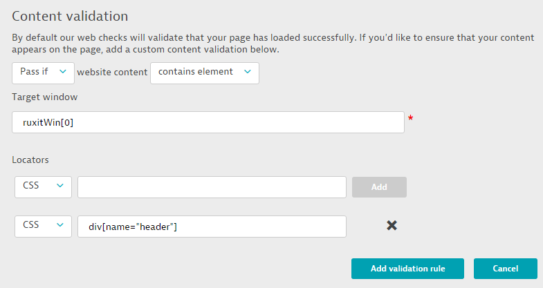 content validation