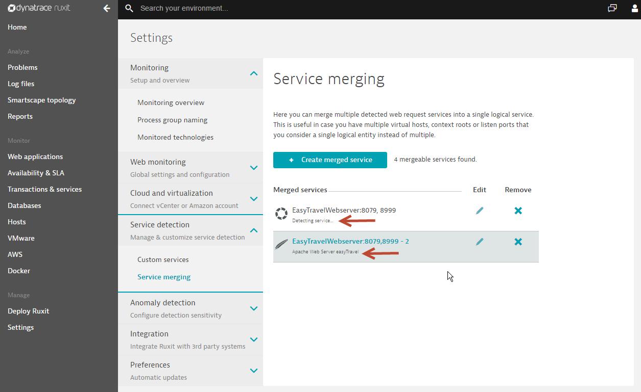 service merging