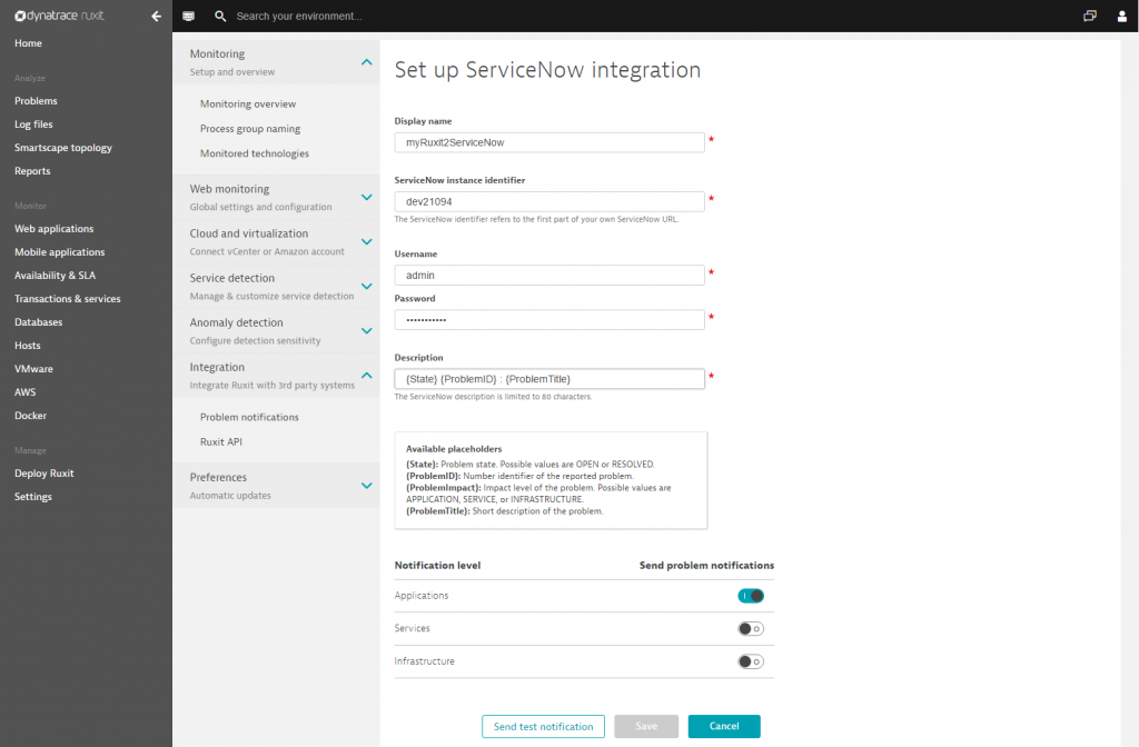 Integrate problem notifications with ServiceNow | Dynatrace blog