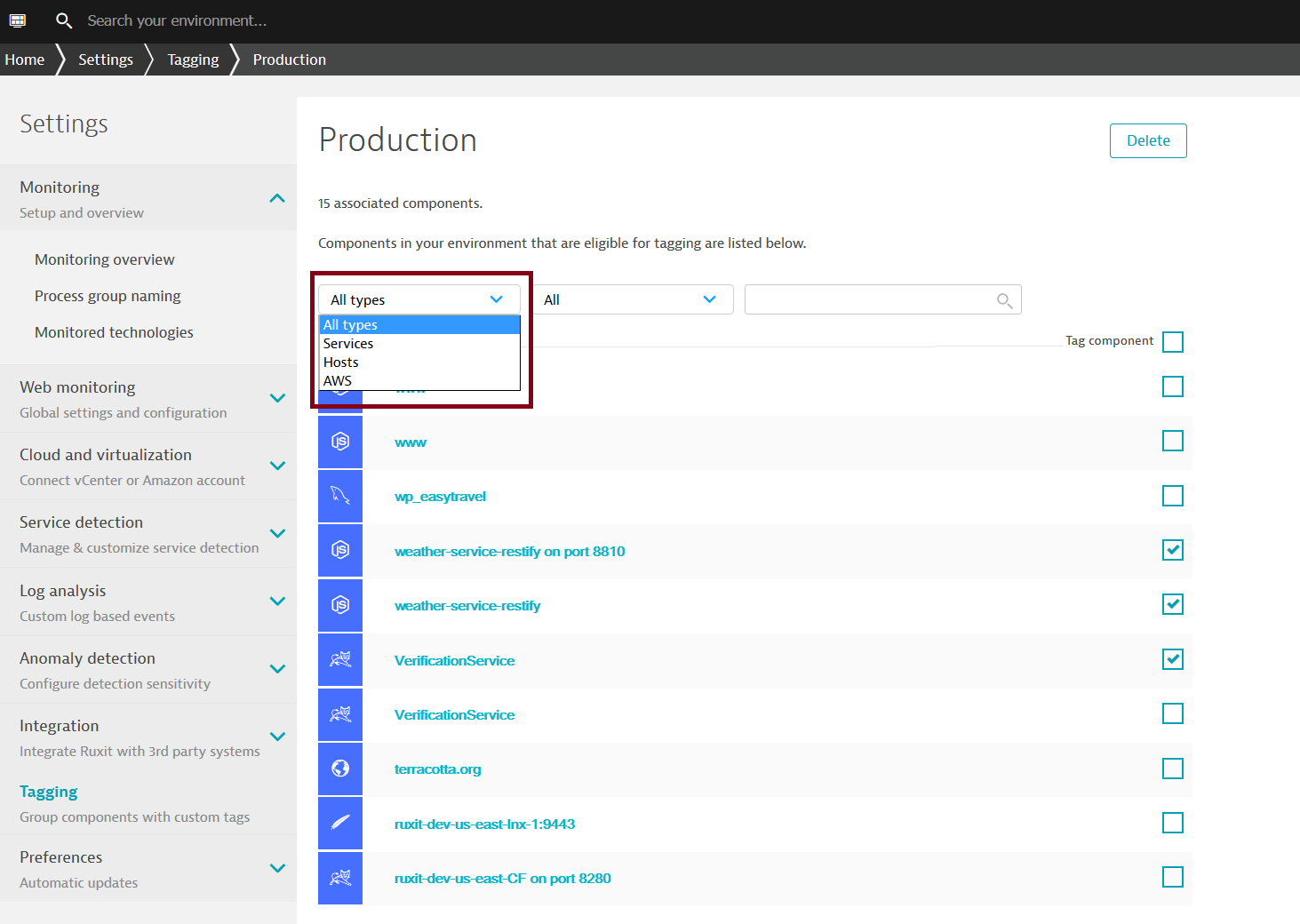 Organize monitored components with tags | Dynatrace blog