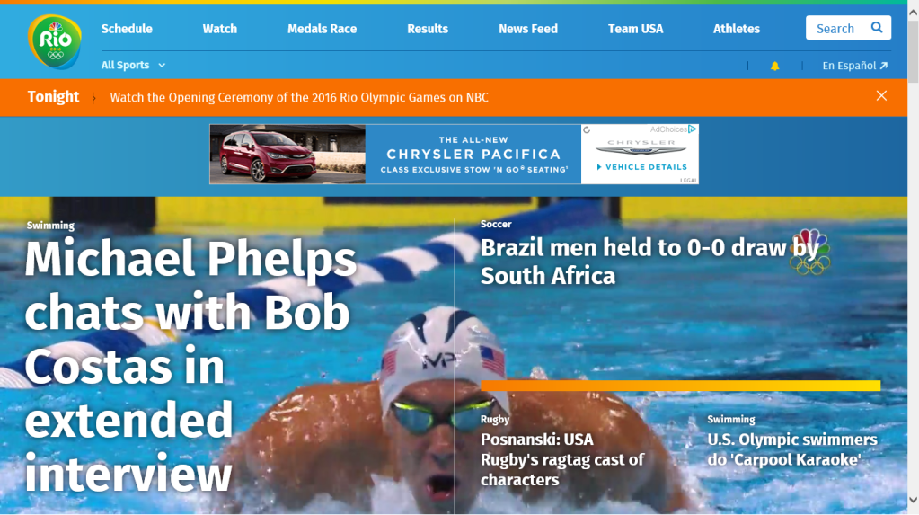 NBC Olympics Rio 2016