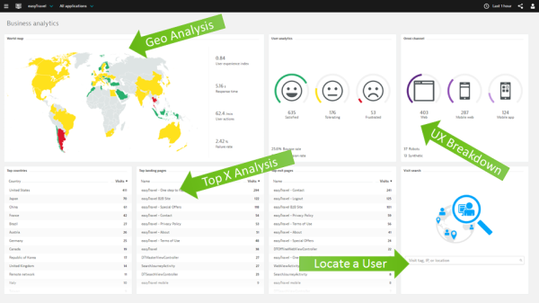 For web applications you will end up on the Business Analysis view. Dig right in and learn more about your end users.