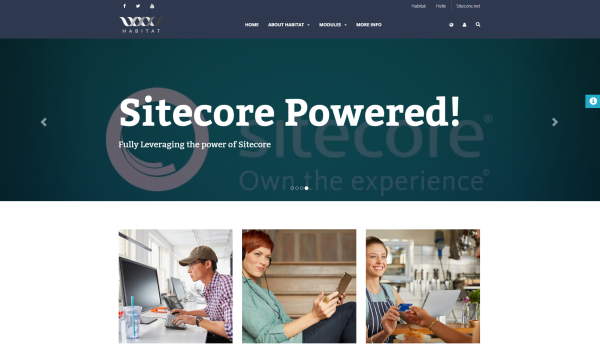 The Habitat demo application built using Sitecore Helix principles