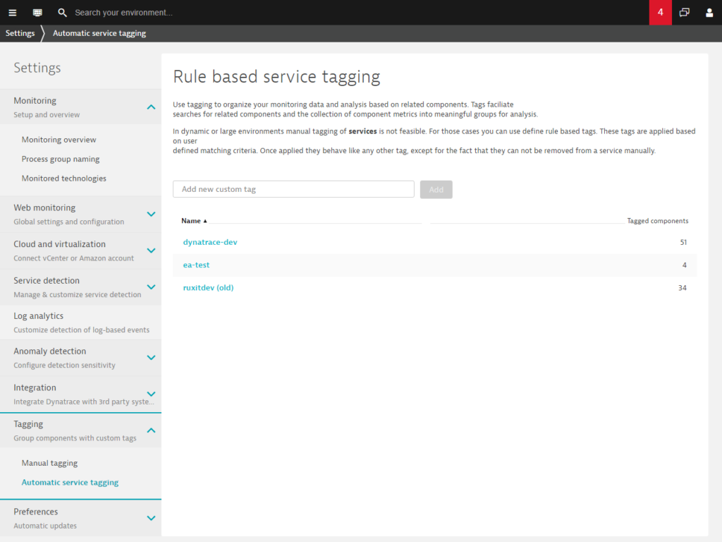Automated rule-based tagging for services | Dynatrace blog