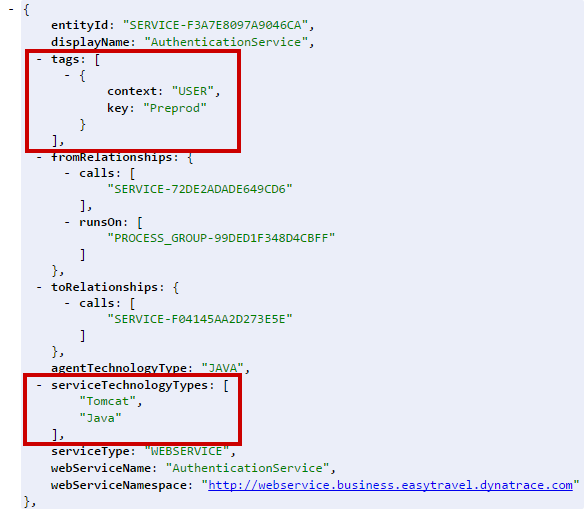 Dynatrace API can now automate tagging of related components