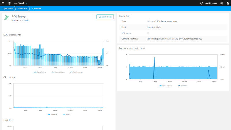 Database Monitoring provided through the Dynatrace Database Agent now fully integrated into the web dashboards.
