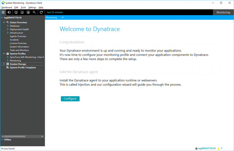 Welcome! You just activated your Dynatrace AppMon License. Now its time to add Dynatrace agents to your application!