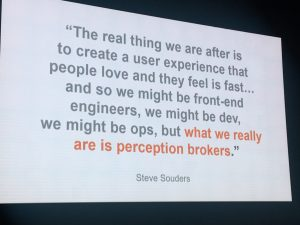 Quote from Steve Souders on that we really all are!