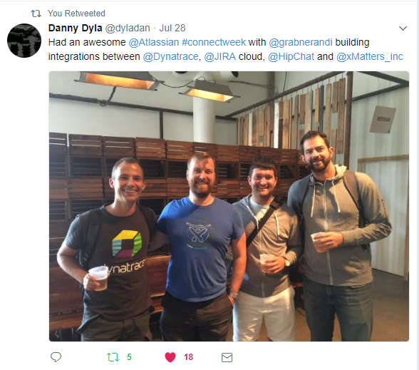 Thanks to Atlassian, xMatters and all other attendees for Connect Week