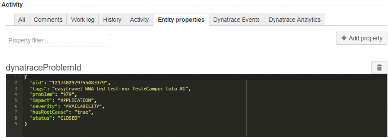 Entity Property Tool makes it easy to validate whether the properties are stored correctly.