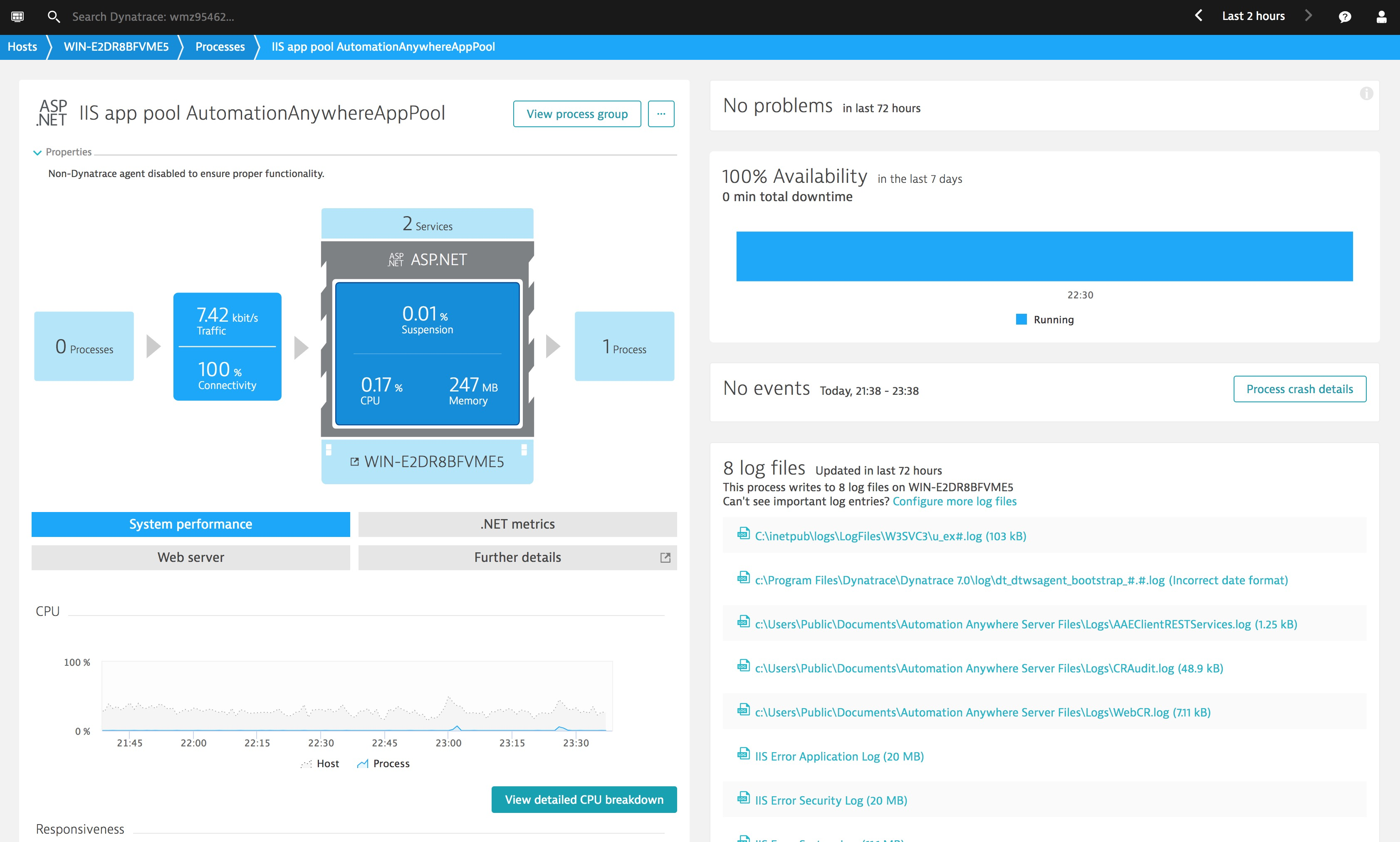 Using Dynatrace to Monitor RPA (Robotic Process Automation