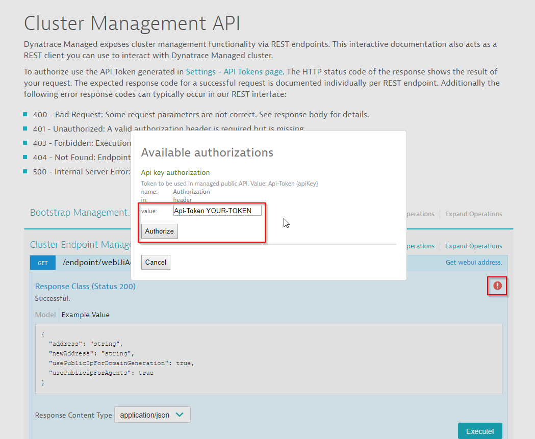 Automate your Dynatrace deployment with our 'Swaggerized