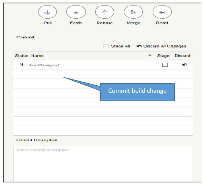 Pushing code changes made easy through the Git client