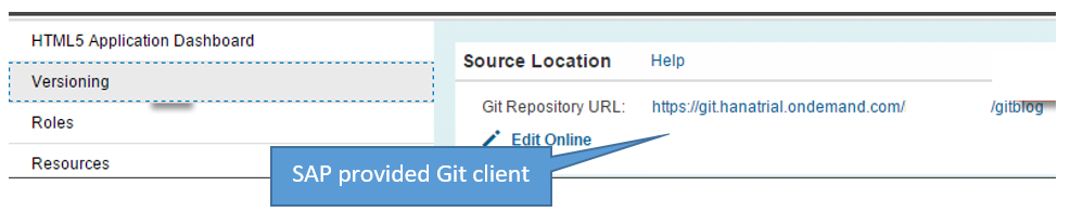 Our development team leverages the SAP provided Git Client