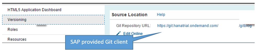 Our development team leverages the SAP provided Git Client