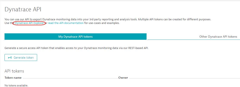Dynatrace API