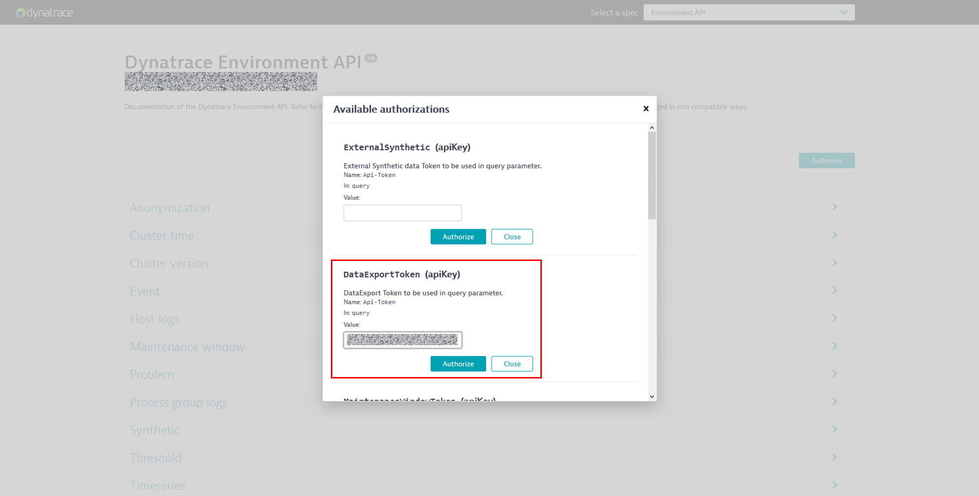 API Explorer authentication