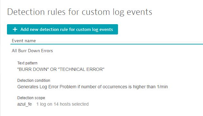 Setting up detection rules for custom log events