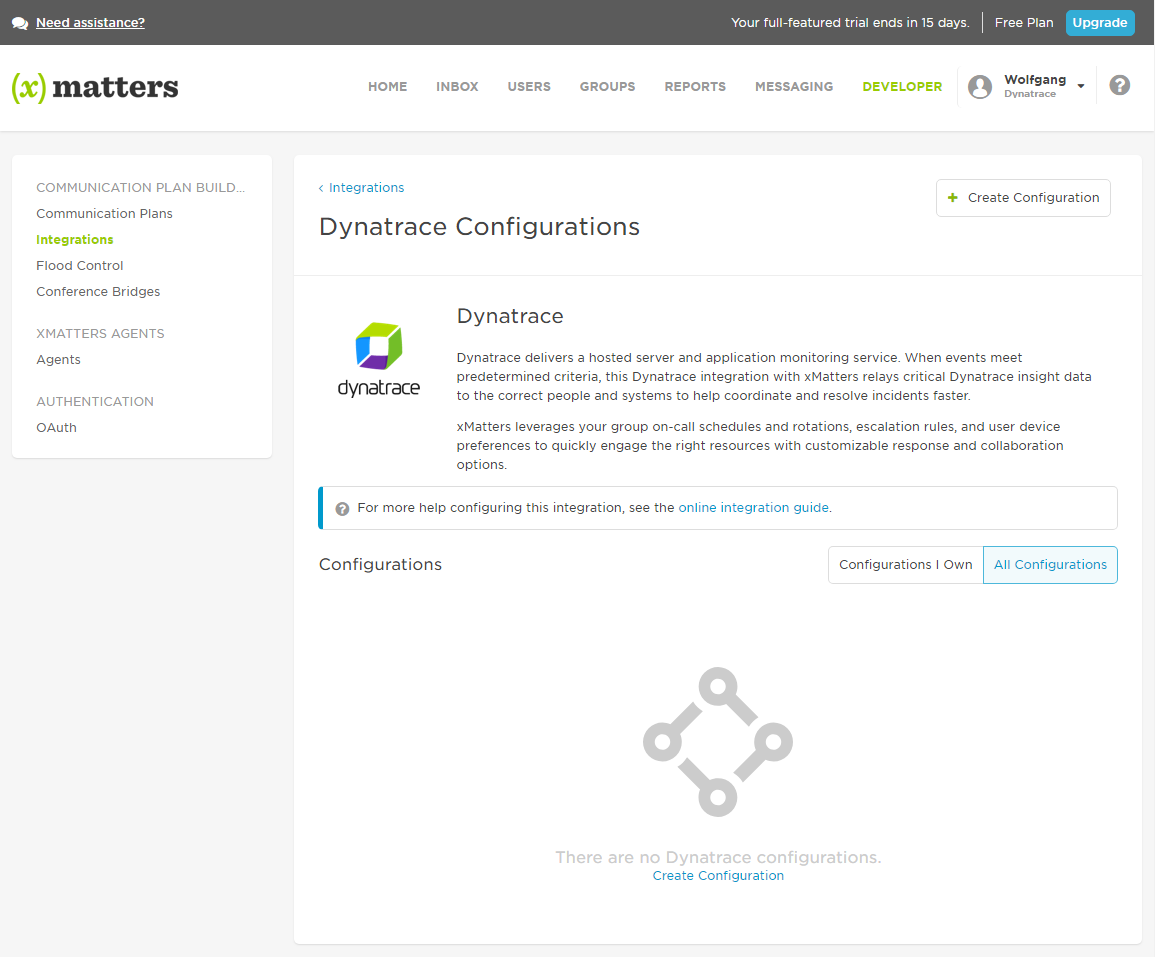 xMatters integration directory
