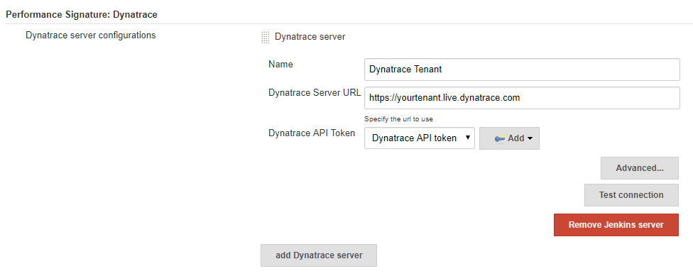 Configure one or more Dynatrace Tenants. All you need is Dynatrace Tenant URL and the API Token.