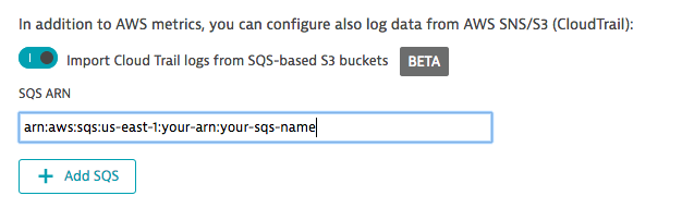 AWS settings to import Cloud Trail logs