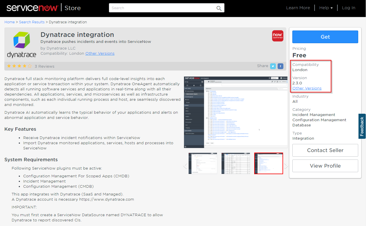 Dynatrace integration for the ServiceNow London release | Dynatrace blog