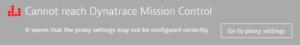 Incorrect Mission Control error message