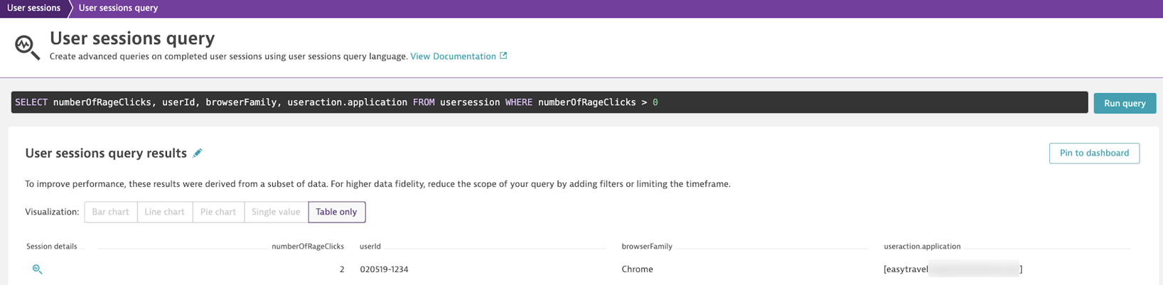 Filter for rage clicks with USQL