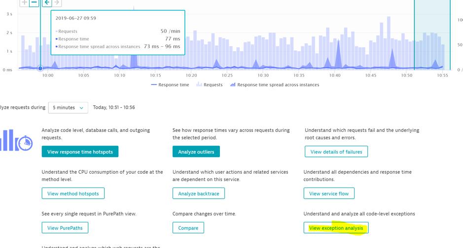 Screenshot exception analysis