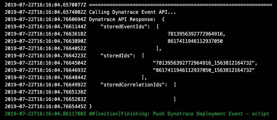 Dynatrace code snippet pipeline