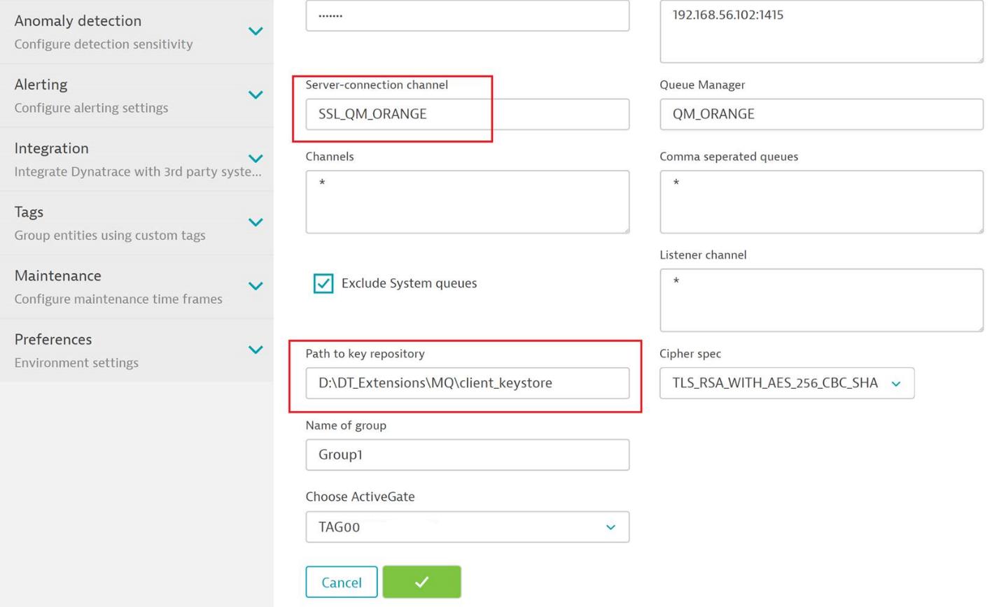 IBM MQ extension – SSL configuration (self-signed and CA
