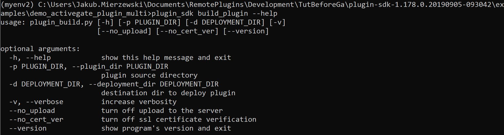ActiveGate plugin framework inline help