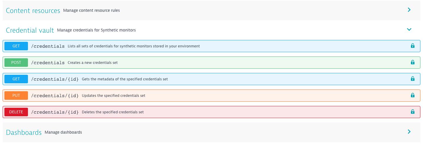 Credential vault API