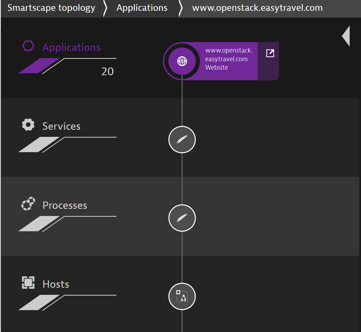 Appliction layer in Dyatrace Smartscape
