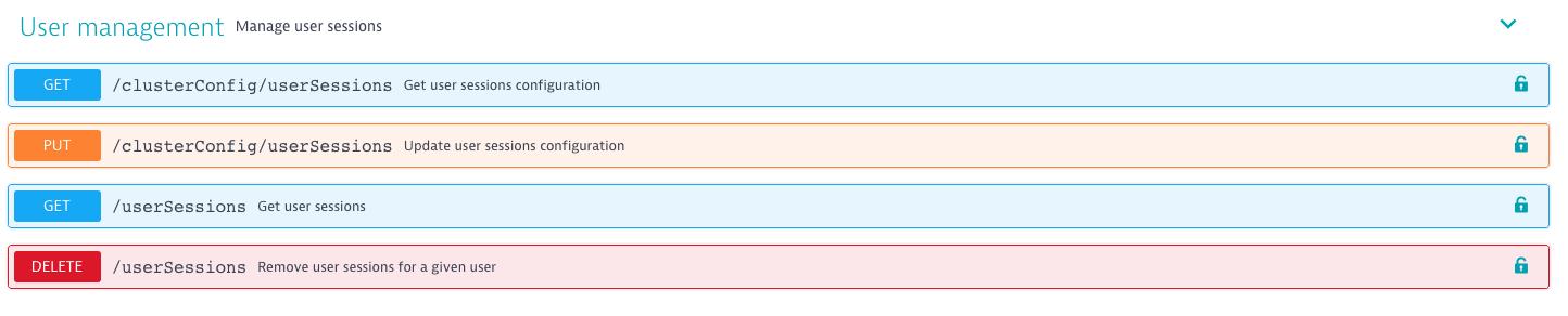 User management API calls