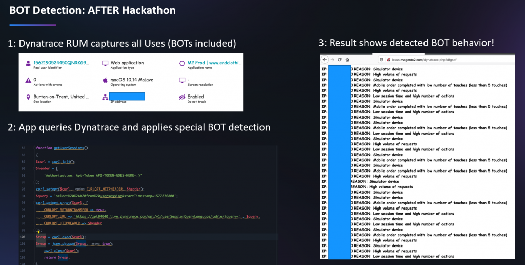Bot detection app based on Dynatrace RUM data to put an end of unfair raffles 😊