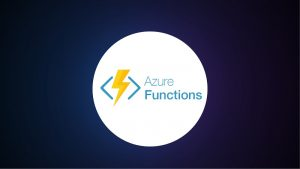 Azure Functions lightning bolt and text