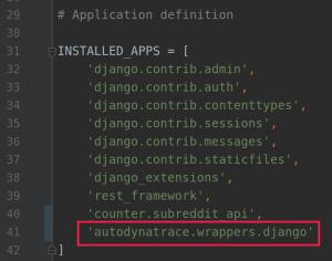 Screenshot Installed apps