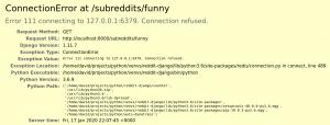 Screenshot Connection Error