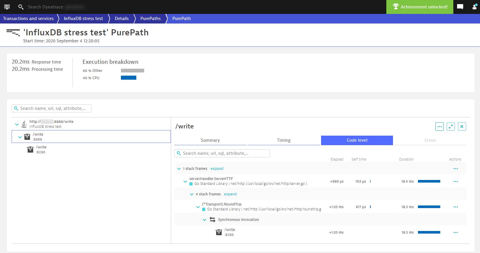 Statically linked Go application Purepath