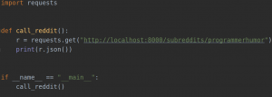 Screenshot Django Code