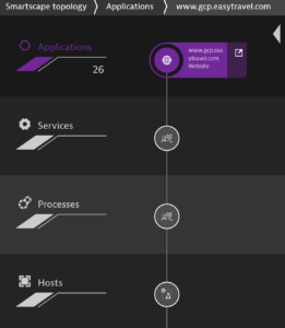 Dynatrace Smartscape Topology view
